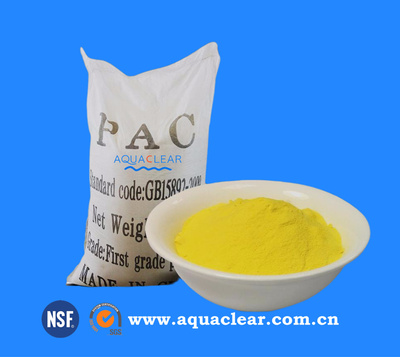Pool Flocculent Polyaluminium Chloride (PAC) Powder / Liquid