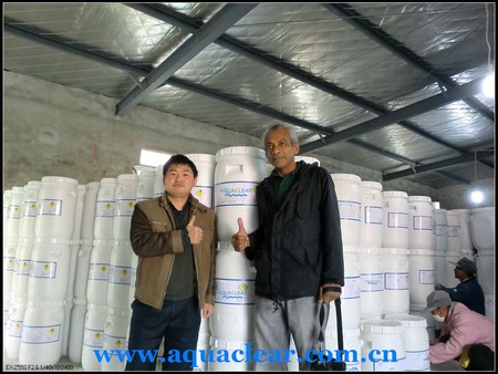 Client from Trinidad and Tobago to check his cargo in our plant in 2012